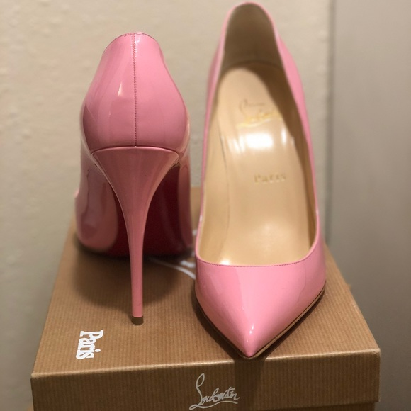 on sale 19b76 25deb Christian Louboutin Pigalle 100 Pink Patent Point